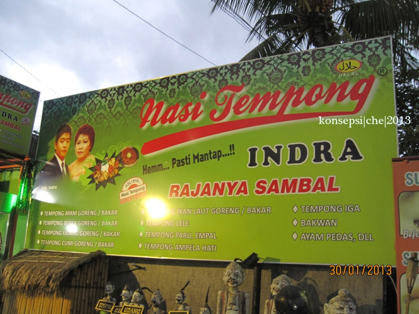 Plang Nasi Tempong Indra Renon